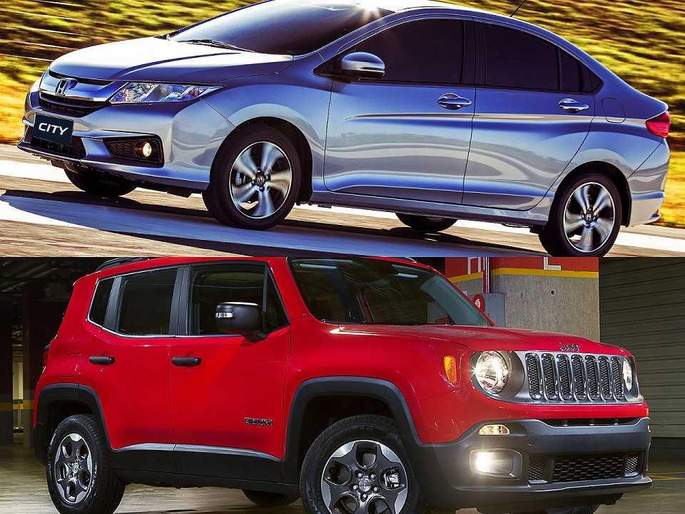 Honda City e Jeep Renegade