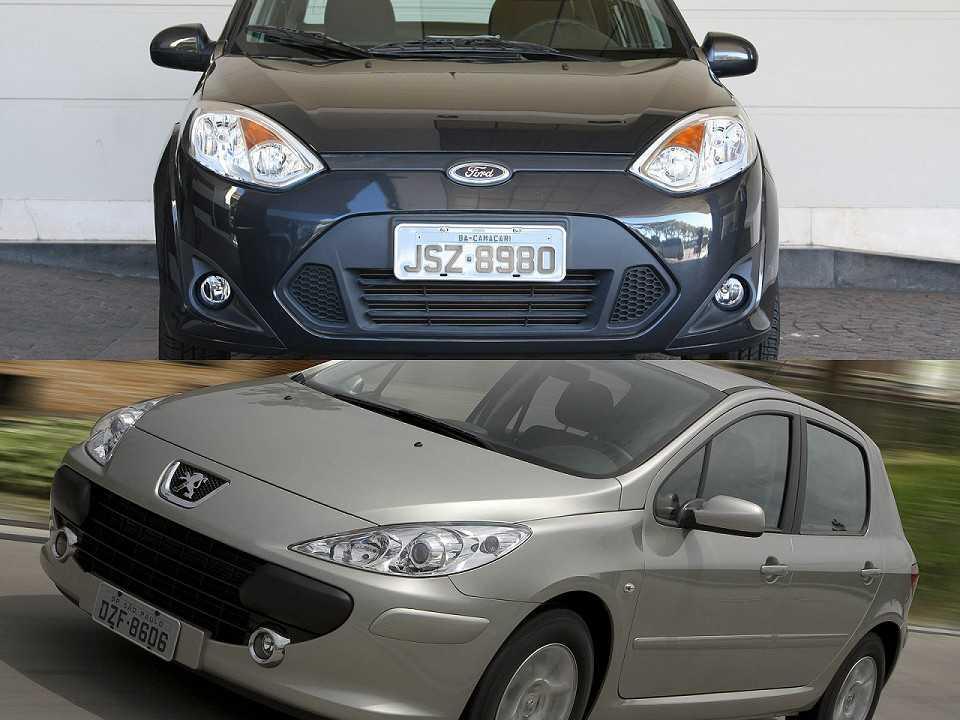 Ford Fiesta Sedan e Peugeot 307