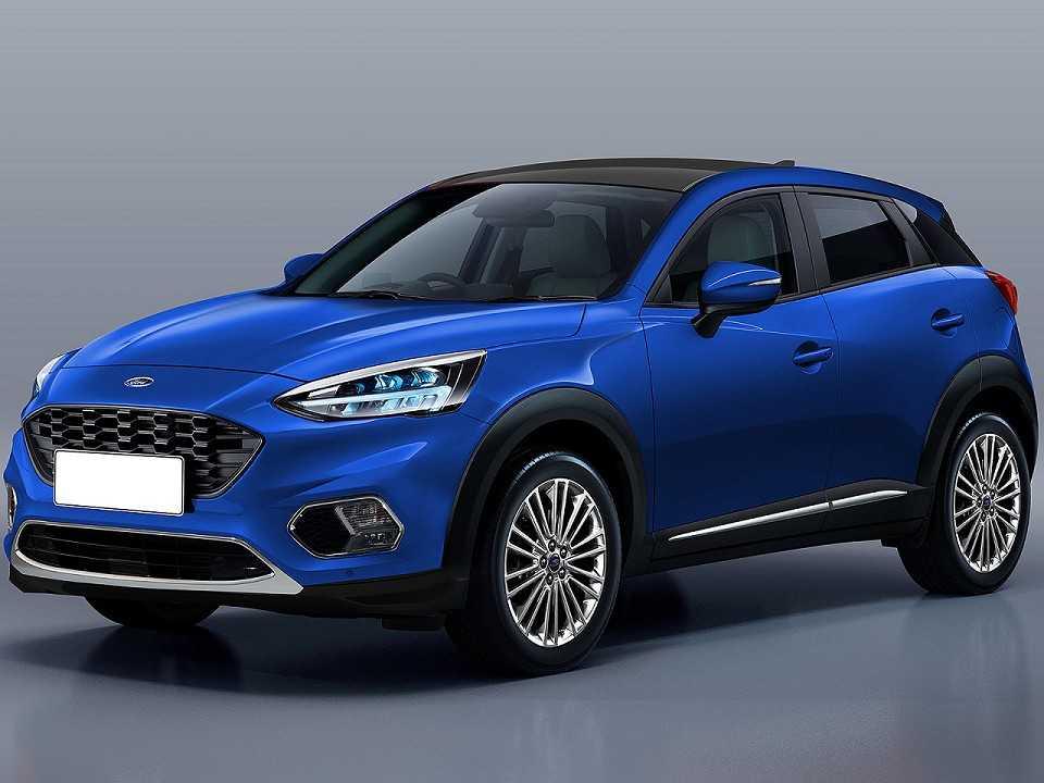 Projeção de Kleber Silva antecipando o SUV derivado do Fiesta para o mercado Europeu