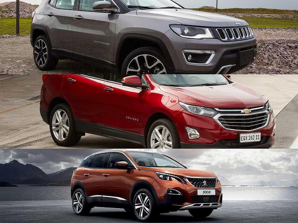 Jeep Compass, Chevrolet Equinox e Peugeot 3008
