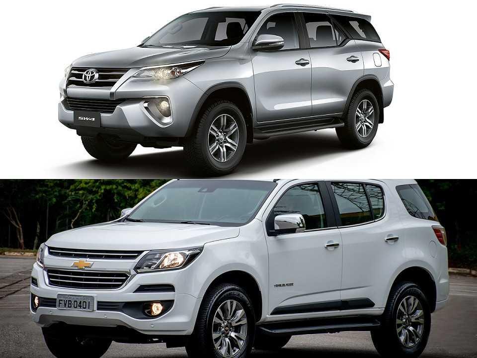 Toyota SW4 e Chevrolet Trailblazer