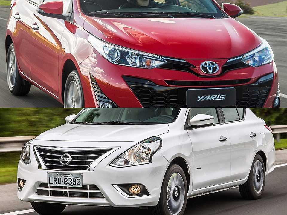 Toyota Yaris e Nissan Versa