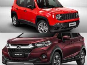 Compra na faixa de R$ 80.000: Jeep Renegade ou Honda WR-V?