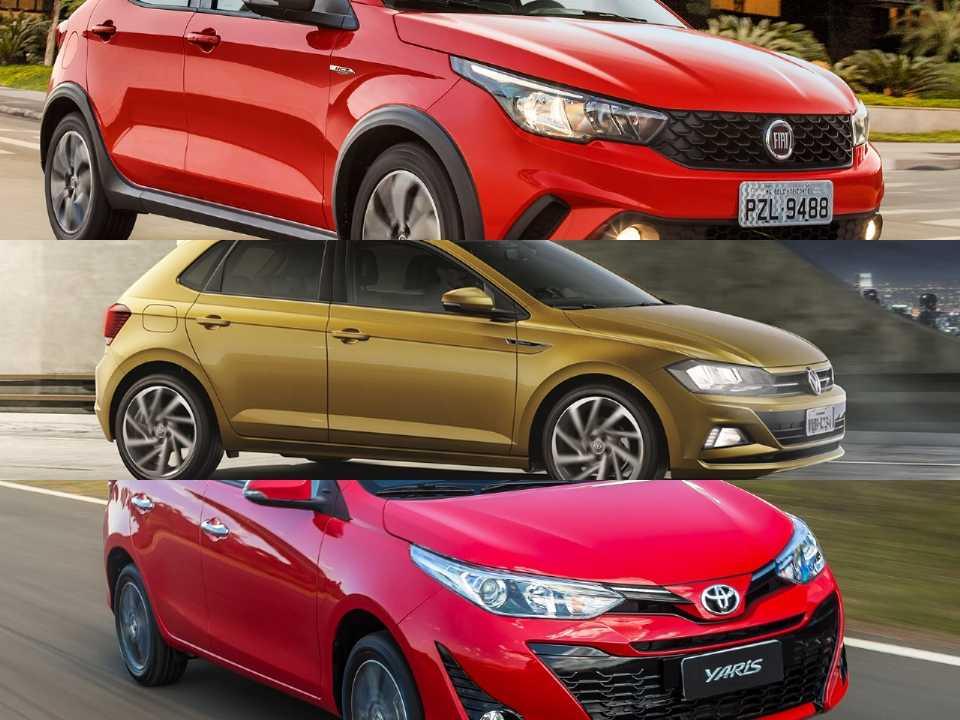 Fiat Argo, VW Polo e Toyota Yaris