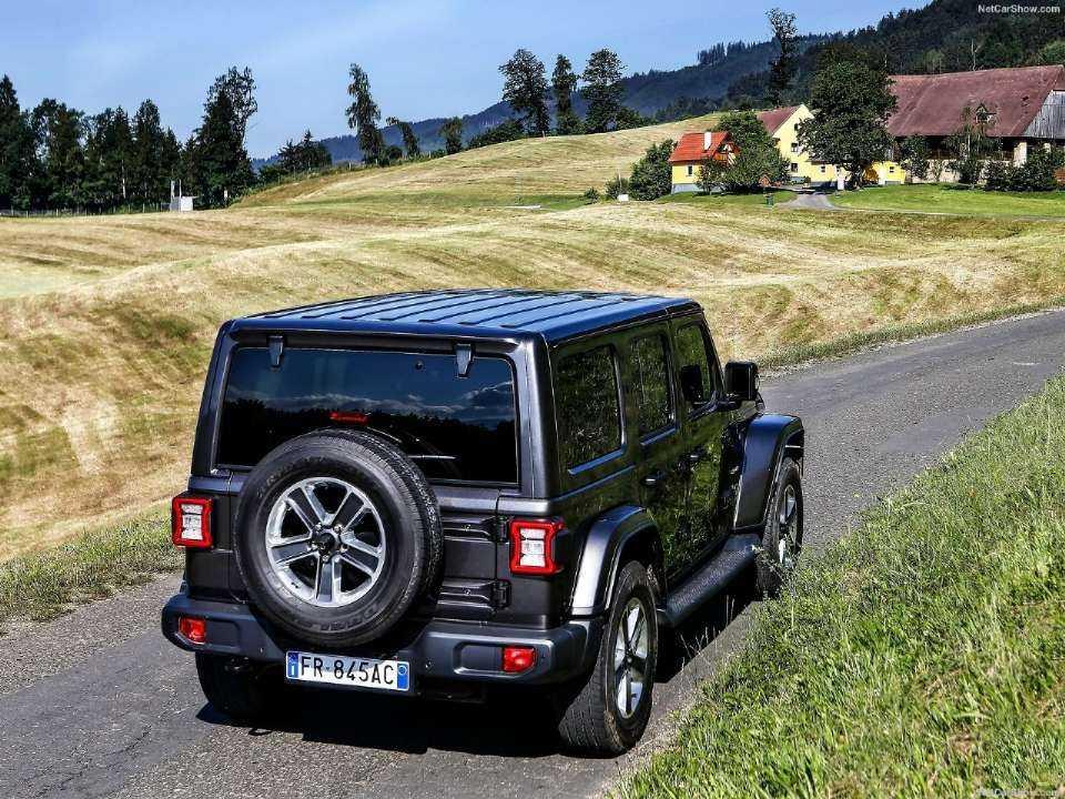 JeepWrangler 2020 - ângulo traseiro