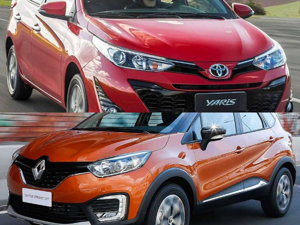 Toyota Yaris e Renault Captur