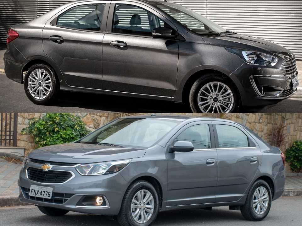 Ford Ka Sedan e Chevrolet Cobalt