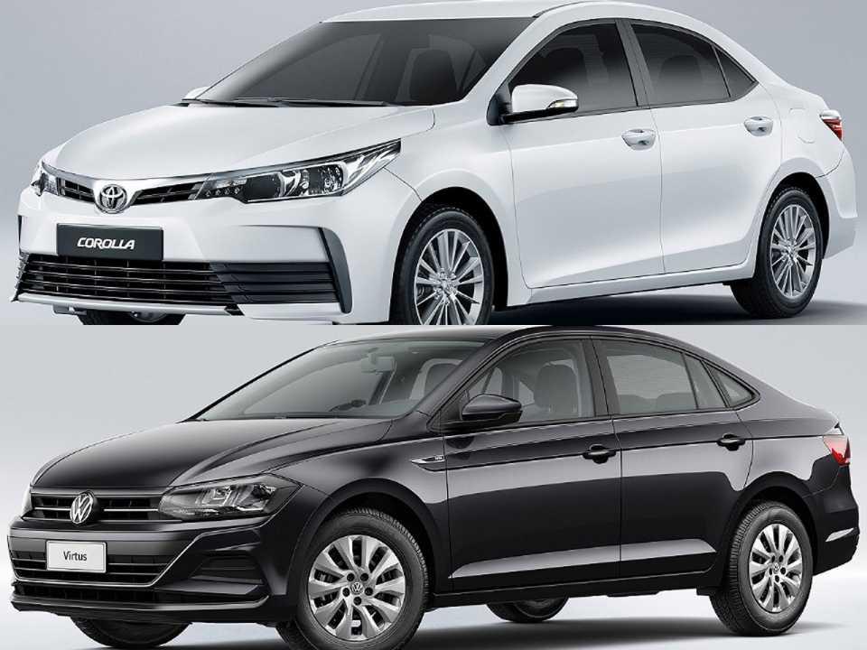 Toyota Corolla e VW Virtus