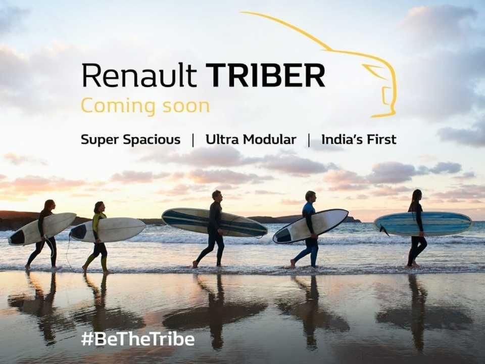 Hotsite do Renautl Triber na Índia: proposta familiar em cima do Kwid