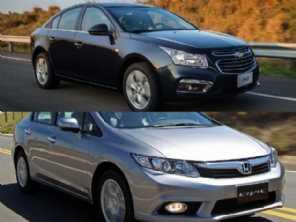 Sedans médios 2012: Civic LXL ou Cruze LT?