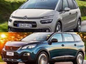 Duelo entre ''primos'': comprar um Citroën Grand C4 Picasso ou um Peugeot 5008?