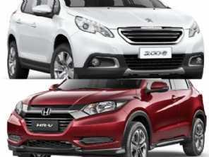 SUV compacto seminovo: Honda HR-V 2016 ou um Peugeot 2008 2018?