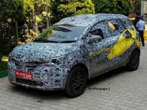 Renault Triber, o ''Kwid 7 lugares'', finaliza testes na Índia