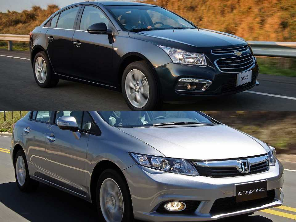 Chevrolet Cruze e Honda Civic