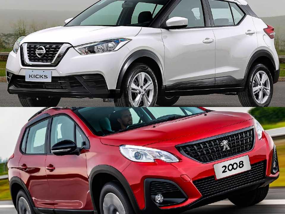 Nissan Kicks e Peugeot 2008
