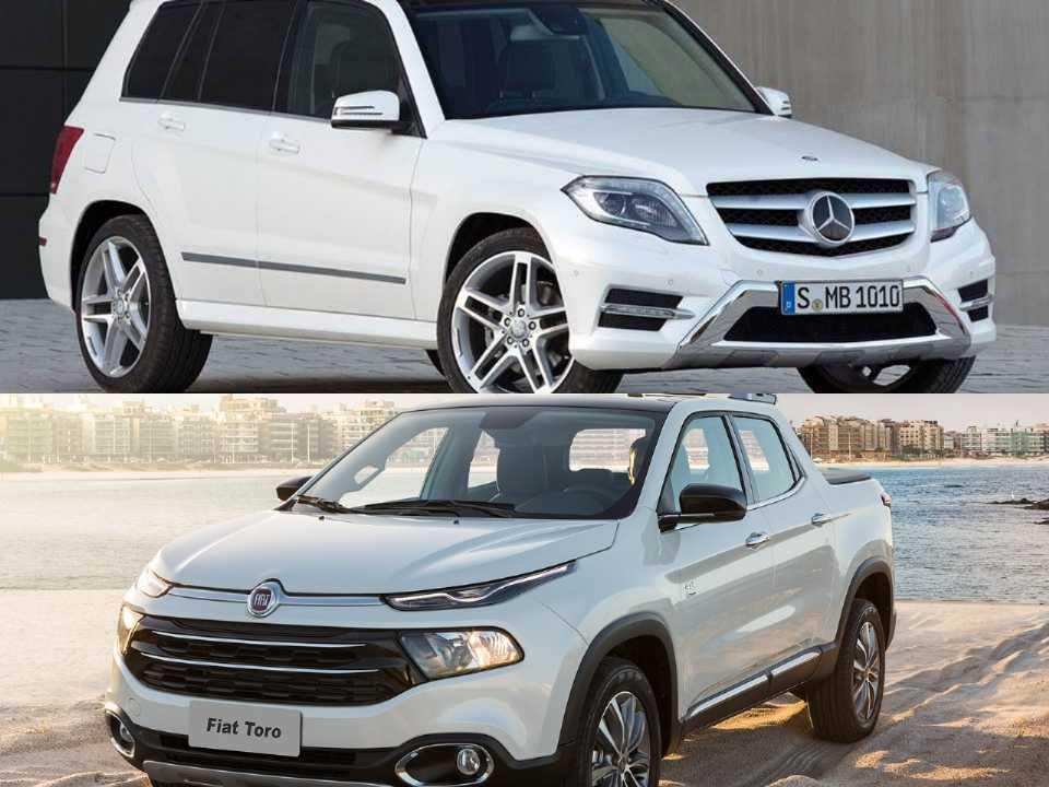 Mercedes-Benz GLK e Fiat Toro