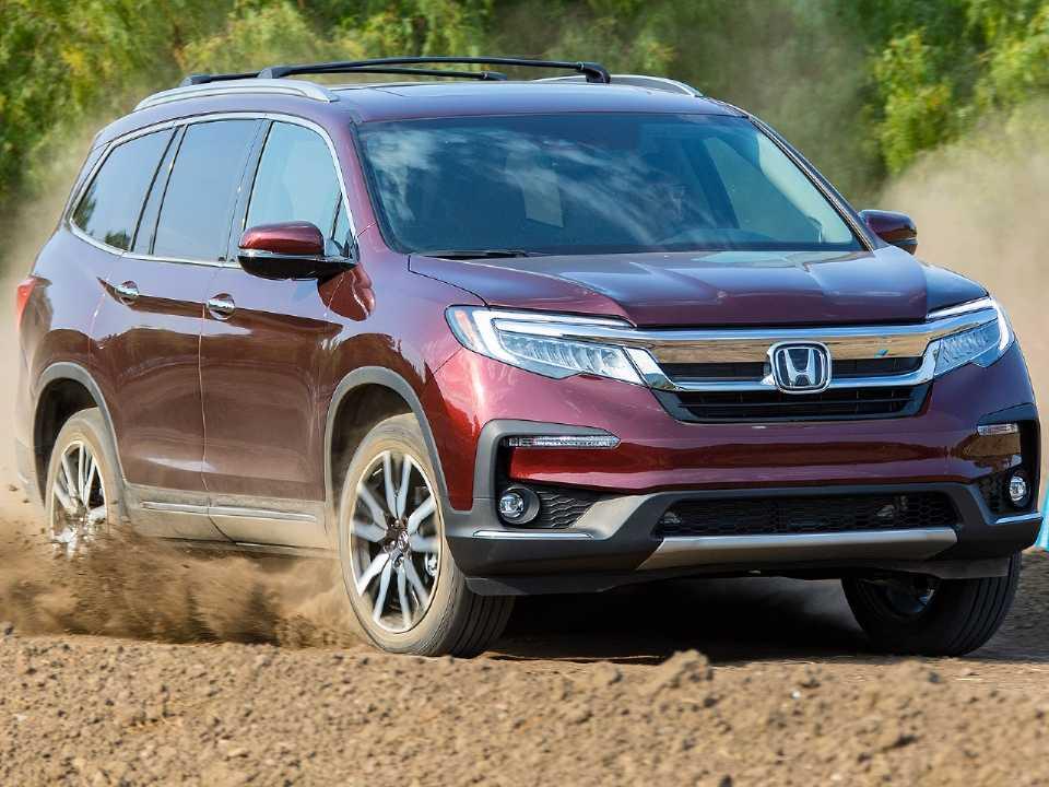 Acima o Honda Pilot vendido nos EUA