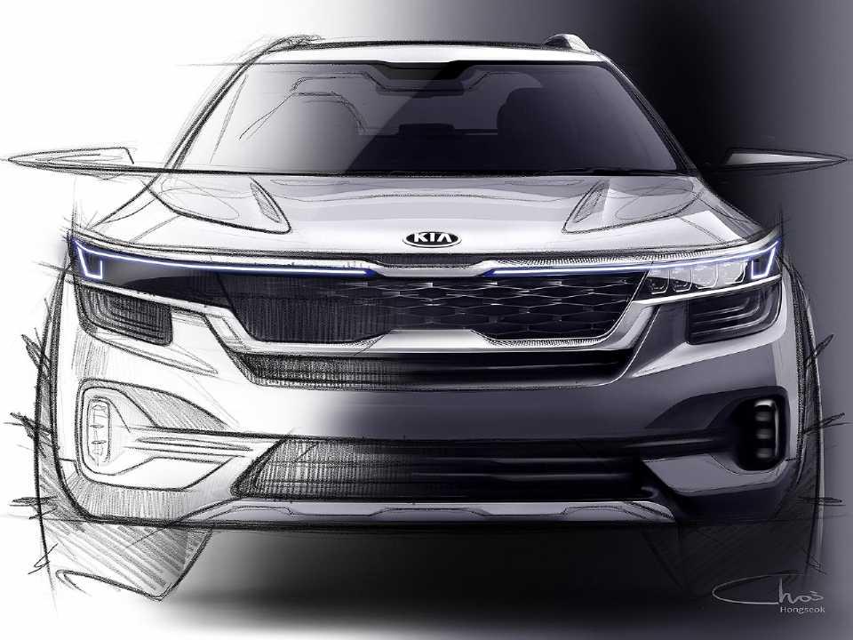 Primeiro teaser oficial do novo SUV compacto global da Kia