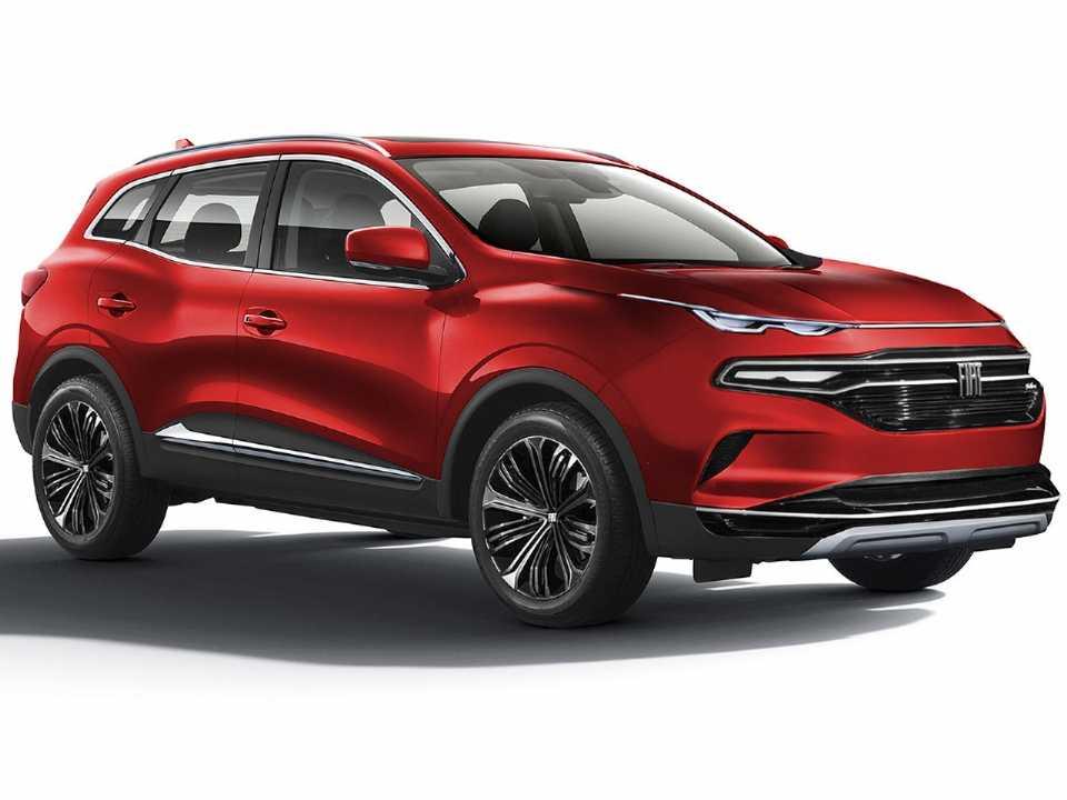 Projeção de Kleber Silva antecipando o que podemos esperar do inédito SUV derivado da Fiat Toro