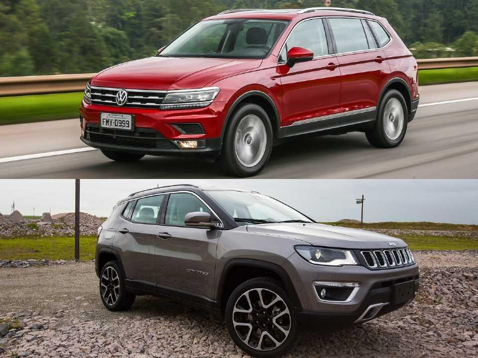 Volkswagen Tiguan Allspace e Jeep Compass