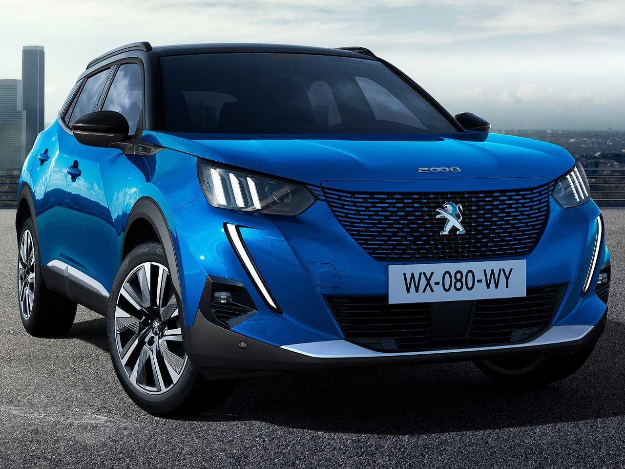 Acima a nova geração Peugeot 2008 em sua inédita configuração elétrica