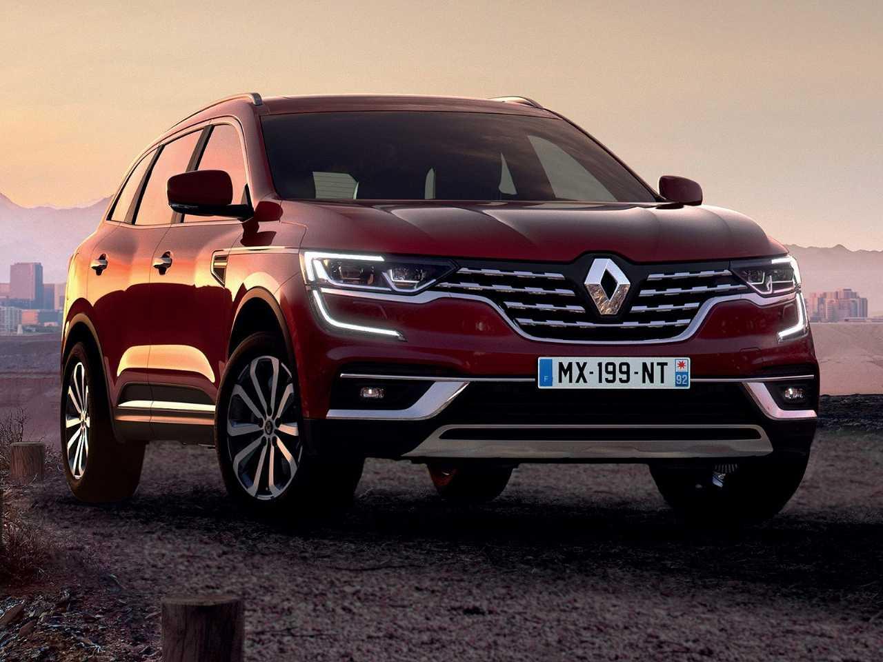 Acima o Renault Koleos 2020, que estreia facelift na Europa