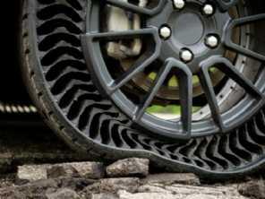 Michelin e GM trabalham em pneus que não precisam de ar