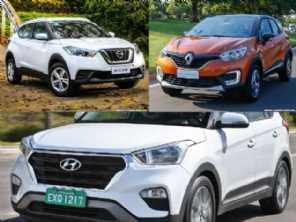 Compra PcD: Hyundai Creta, Nissan Kicks ou Renault Captur?