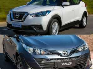 Compra com isenção: Yaris Sedã XL ou um Nissan Kicks S Direct?