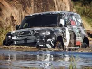 Nova geração do Land Rover Defender realiza os últimos testes