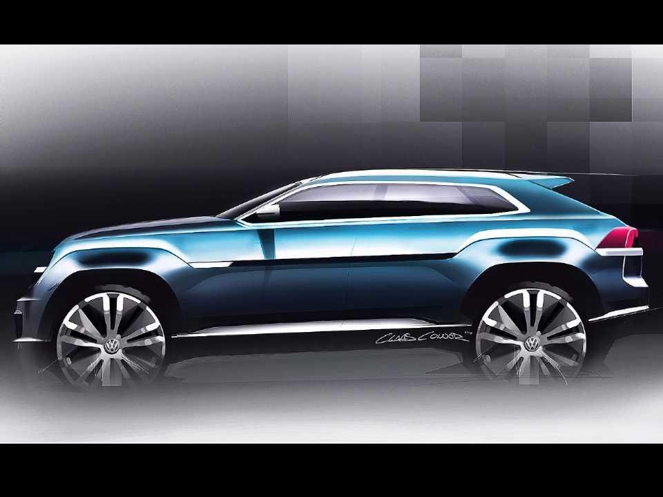 Mescla de SUV e cupê ganha cada vez mais força: acima o conceito Cross Coupé GTE, revelado pela VW em 2018