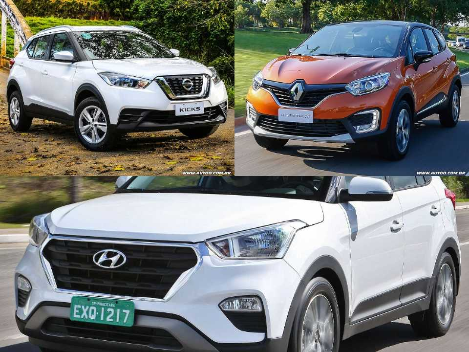 Nissan Kicks, Renault Captur e Hyundai Creta