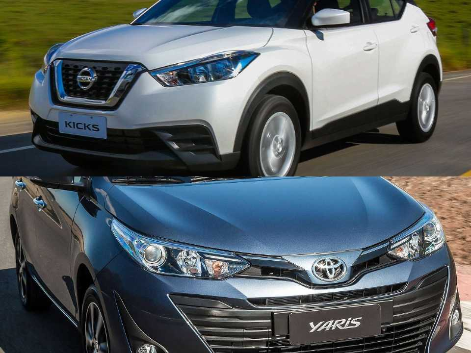 Nissan Kicks e Toyota Yaris Sedã