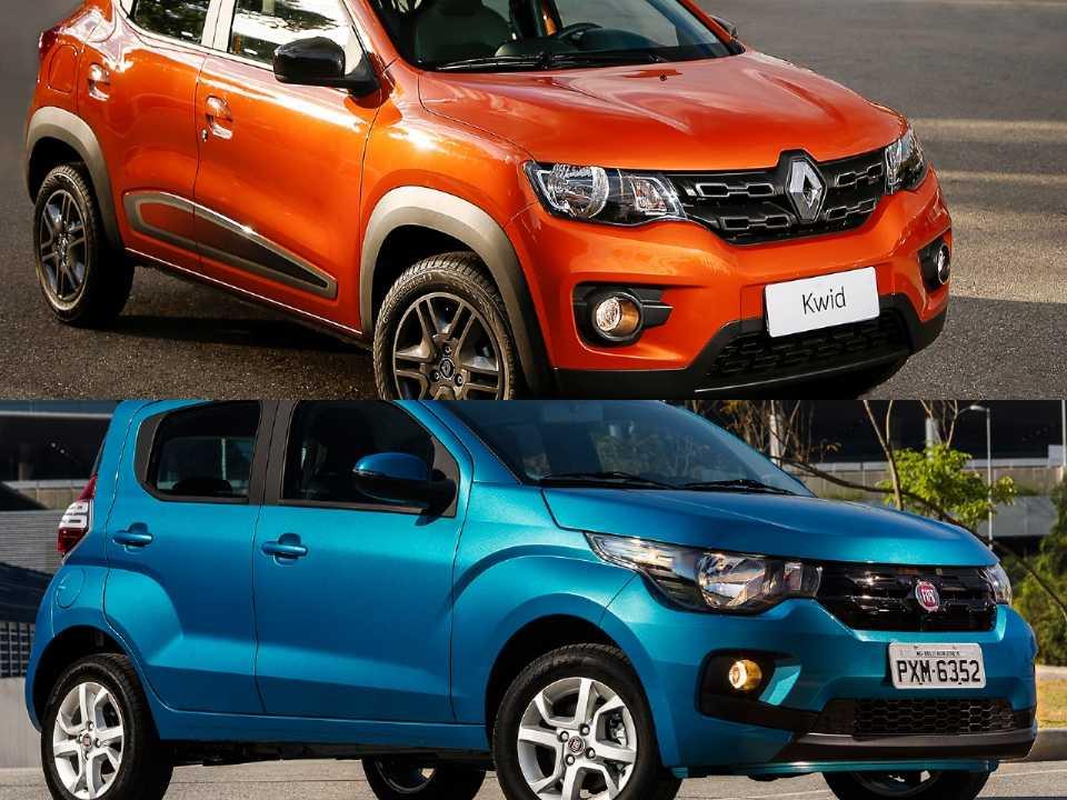 Renault Kwid e Fiat Mobi
