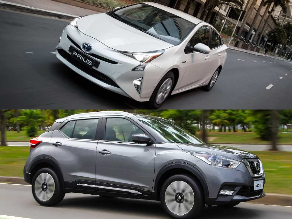 Toyota Prius e Nissan Kicks