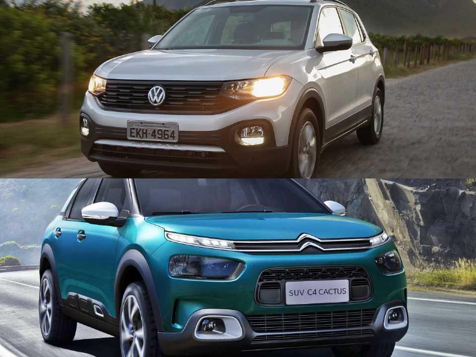 Volkswagen T-Cross e Citroën C4 Cactus
