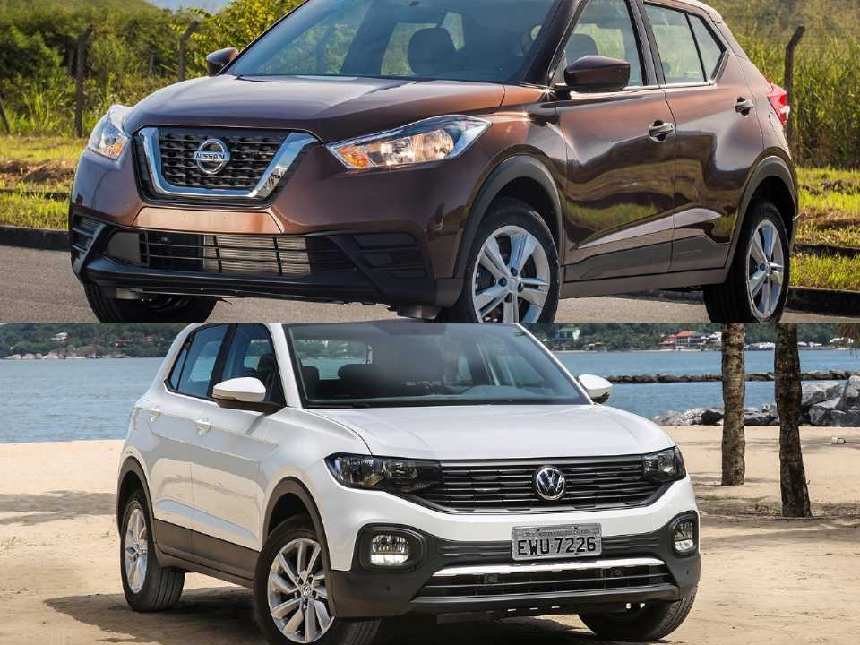 Nissan Kicks e Volkswagen T-Cross