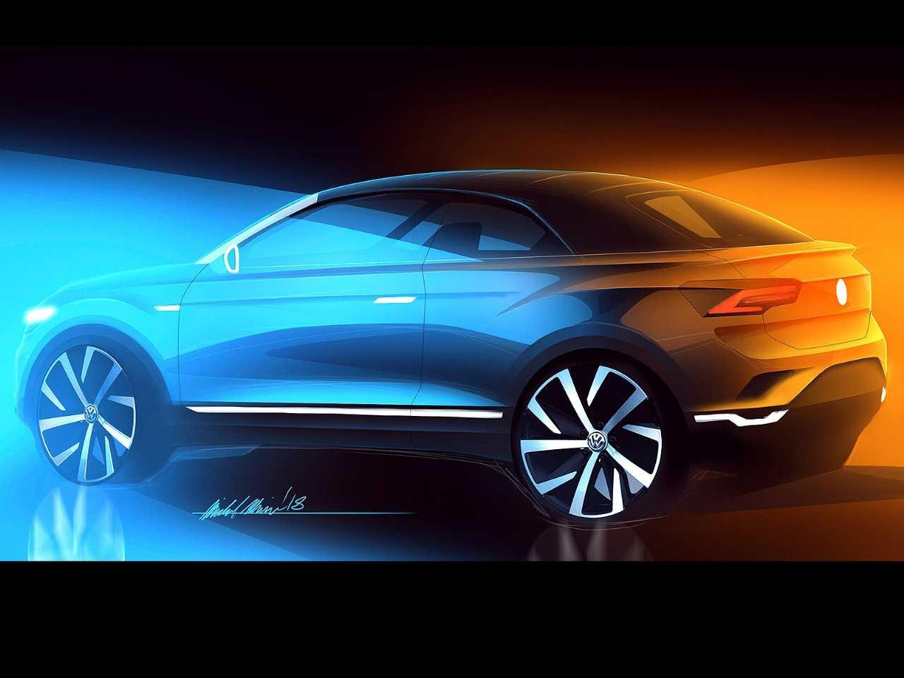 Acima desenho do T-Roc conversível: influências para o futuro crossover derivado do Polo