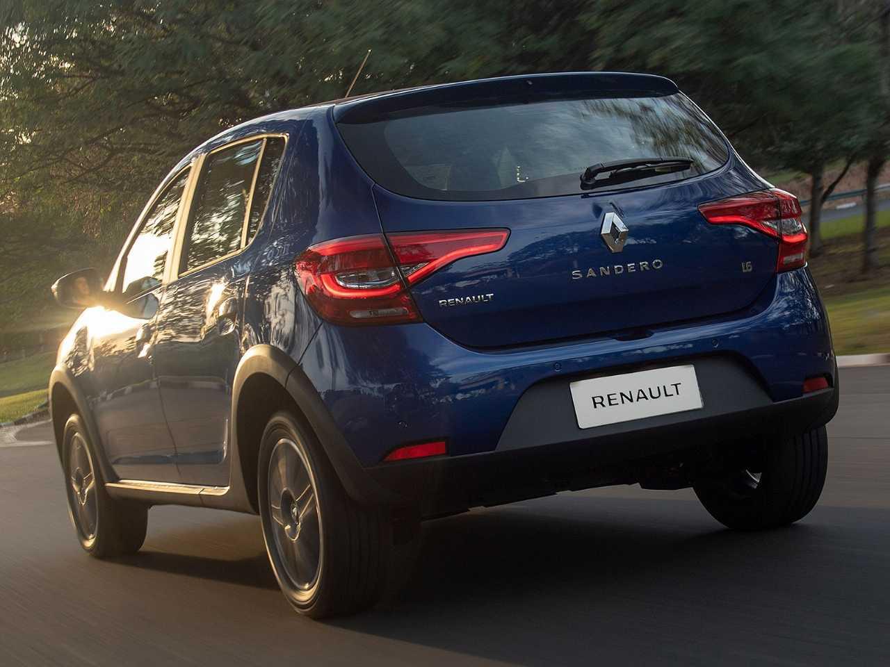 RenaultSandero 2020 - ângulo traseiro