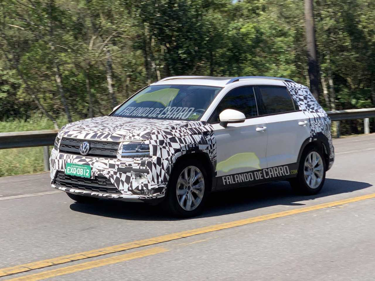 Flagra do VW Tarek em testes no Brasil