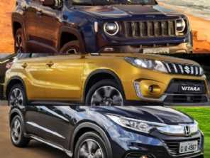 Suzuki Vitara 1.4 turbo 4x4, Honda HR-V EXL ou um Jeep Renegade diesel?