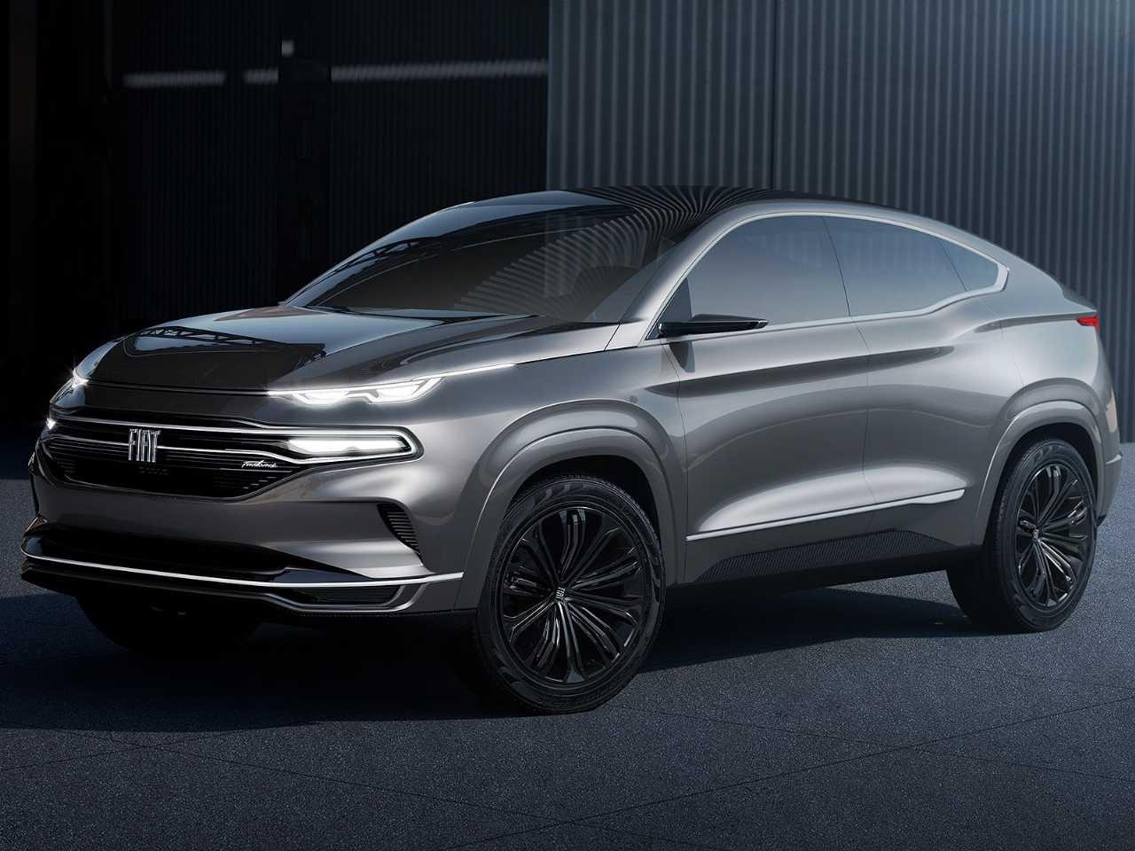 Acima o conceito Fiat Fastback: inspiração para um dos SUVs que a marca vai lançar no Brasil