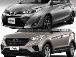 Compra com isenção: Toyota Yaris Sedã ou um Hyundai Creta?