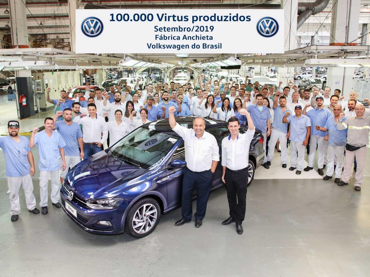 O Virtus chegou à marca de 100 mil unidades 18 meses após seu lançamento