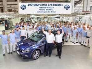 Volkswagen Virtus chega a 100 mil unidades produzidas no Brasil