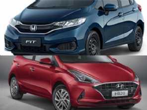 Um novo HB20 1.0 turbo Evolution ou um Honda Fit Personal?