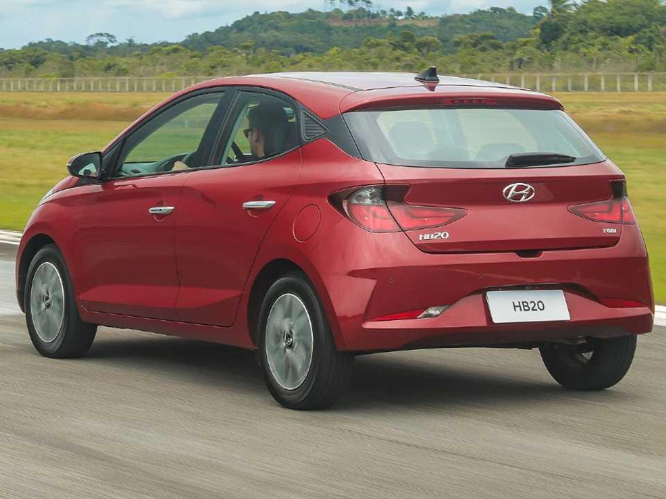 HyundaiHB20 2020 - ângulo traseiro