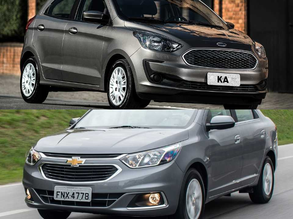 Ford Ka e Chevrolet Cobalt