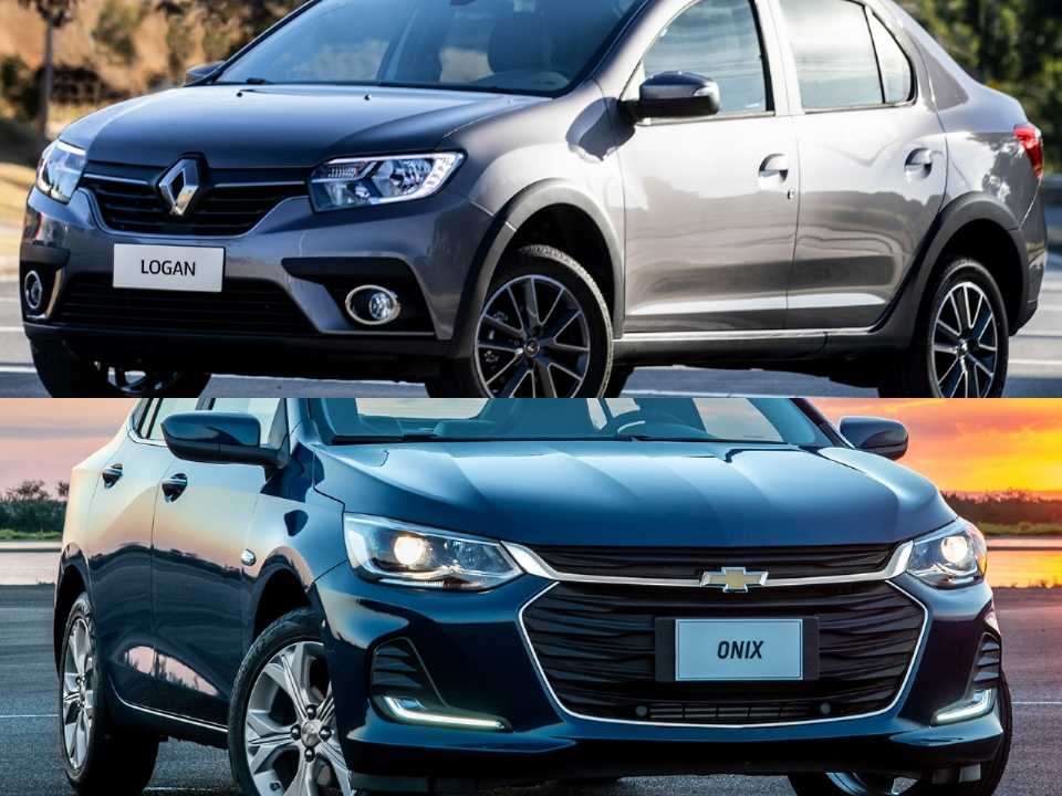 Renault Logan e Chevrolet Onix Plus