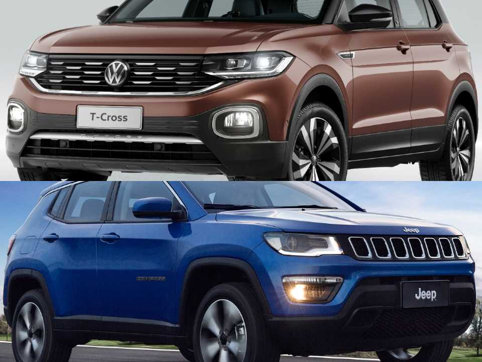 Volkswagen T-Cross e Jeep Compass